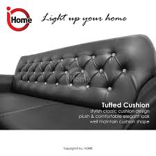 i home angela 123 seater sofa set leather sofa upholstery brown black lazada