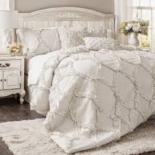 farmhouse chic bedding shabby chic sheets twin queen bed comforter set white ruffle comforter full boho chic quilt set