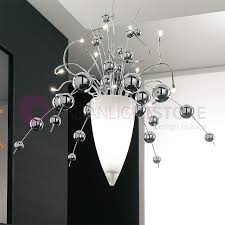 bubbles suspension chandelier ultra modern with spheres in blown glass desig lam