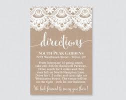 wedding directions etsy Wedding Invitation Direction Inserts printable or printed wedding direction cards burlap and lace wedding directions inserts rustic wedding wedding invitation direction inserts template