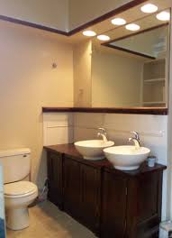 Vanity Bathroom Light Master Bath Vanity Has A Tray Ceiling With Soffit Recessed Can