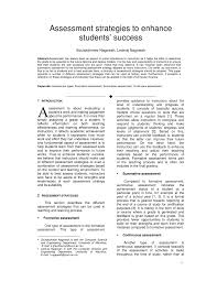 Pdf) Assessment Strategies To Enhance...