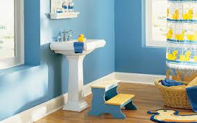 Nice Bathroom Decor Bathroom Kids Bathroom Decor With Nice Blue Wall Paint Kids
