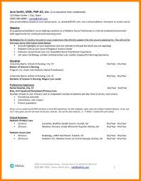 9 Pediatric Nurse Resume Sample Address Example