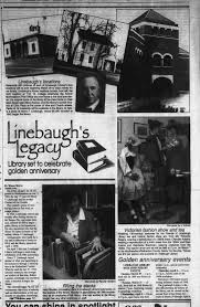 Linebaugh's Legacy: Library set to celebrate golden anniversary -  Newspapers.com