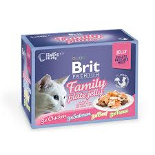 <b>Brit Premium</b> Family Plate Влажный корм в желе 85 гр * 12 шт