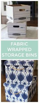 Storage Boxes Decorative Fabric StepbyStep How To Cover Storage Boxes in Fabric basteln 58