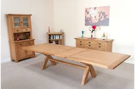 Large Dining Table Seats Is Also A Kind Of Huge Etending Rustic Oak Table  ...