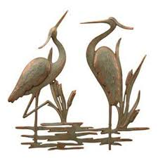 >heron metal wall art compare prices at nextag heron duo garden wall plaque 33210