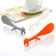 Trendy Cute Squirrel Rice Paddle Spoon Scoop Ladle Stander Kitchenware  Worldwide Store-in Spoons from