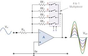 multiplexer mux and multiplexing tutorial amplifier gain using multiplexer