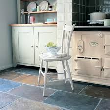 kitchen tile flooring.  Tile Colorful Natural Stone Slate Kitchen Tile Flooring With Tiny Bowl Over  Small White Wooden Chair Also Storages In Themed Design Ideas