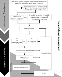 Asthma Pathophysiology Flow Chart Adjunct Therapies For Refractory Status Asthmaticus In