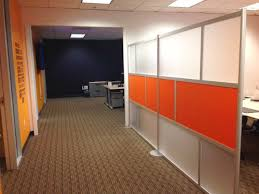 office wall panels interior. two 6u0027 walls linked with solid color orange u0026 frosted acrylic panels office wall interior w