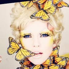 this effie trinket makeup from the hunger games is amazing