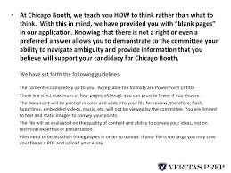 breakdown of chicago booth mba admissions essays  10 <ul><li>at chicago booth