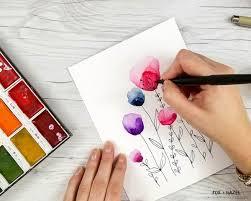 5 easy watercolor flower tutorial steps