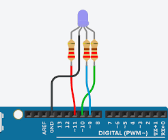 Rgb Led Color Mixing With Arduino In Tinkercad 5 Steps
