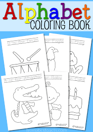 Small Picture Printable Alphabet Coloring Book From ABCs to ACTs