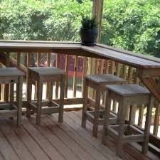 diy deck railing bar inspirational screened in porch built in bar with custom stools outdoor bar