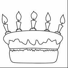 Small Picture Birthday Cake Coloring Page Printable Cheap Girl Birthday