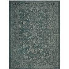 safavieh courtyard providence turquoise indoor outdoor coastal area rug common 7 x 9