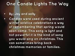 One Candle Lights The Way Song Welcome To Our Christmas Concert By Co025955