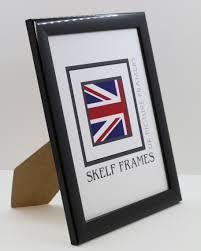 shiny black wood frame