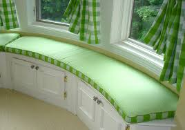 window seat furniture. Lavish Green Fabric Windows Curtain Also Curved Window Seat Cushions Covers Wooden Drawers Bay Ideas Furniture