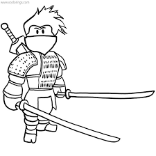 Ninja coloring pages will be one of the favorite coloring pages for boys. Roblox Ninja Coloring Pages With Sword Xcolorings Com