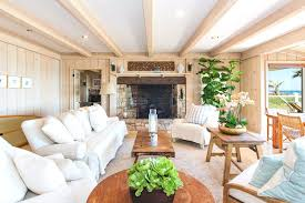 rafters living lighting. Elegant Living Space Using White Sofa Also Wooden Coffee Table Rafters Lighting