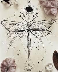 Dragonfly Tattoo Design For A Friend минимализм тонкие линии