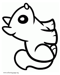 Squirrels Little Cute Squirrel Coloring Page Coloring Home