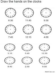 Free Telling Time Worksheets, Missing hands Time Clock | Edumakation ...
