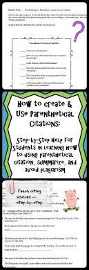 parenthetical citation in mla format 71 best mla for middle schoolers images on pinterest school