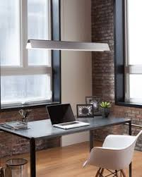 home office lighting. Simple Office The Angular Metal Shade Housing Of The Dobson Linear Suspension Light From  Tech Lighting Is In Home Office