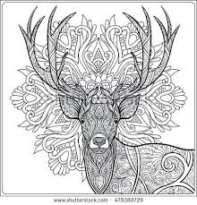 Forest Coloring Page Coloring Page Deer Forest Coloring Book Stock