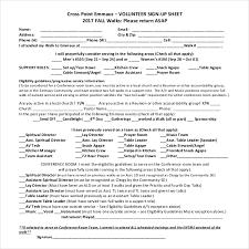 10 Volunteer Sign Up Sheet Templates Pdf Free Premium Templates
