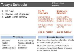 8 th Grade Science Do Now Monday Complete the concept map of ...