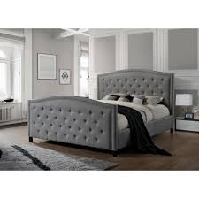 Grey Tufted Bed Frame Awesome Metal Double Bed Frame ...