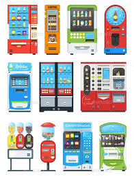 Vend Machine Adorable Vending Machine Vector Vend Food Or Beverages By Elevartun