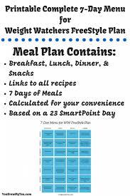 ww freestyle smartpoints 7 day plete