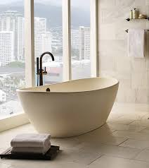elise 128 freestanding tub featuring organic design and overflow plate compact bathroom ideas