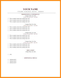 8 Sample Of Resume Form Azzurra Castle Grenada