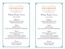 wedding party program templates free printable wedding program templates word template