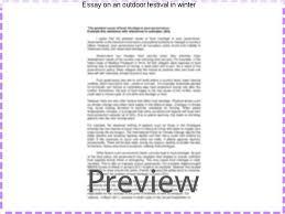 essay on an outdoor festival in winter custom paper academic service essay on an outdoor festival in winter descriptive essay on an outdoor festival in winter