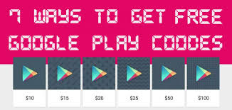 7 ways to get free google play codes 2019 list updated