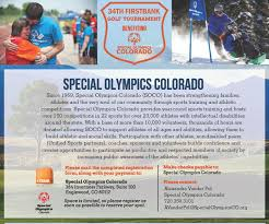 Special Olympics Of Colorado | 2018 Firstbank Golf Tournament ...