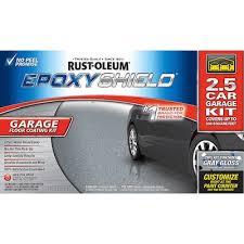 Rust Oleum Epoxyshield 2 Part Gray Gloss Garage Floor Epoxy