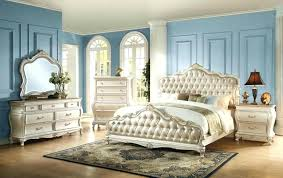 Gold Bedroom Furniture Sets Elegant The Acme Q Rose Pearl White And ...